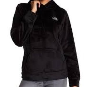 The North Face pullover hooded soft fleece M black